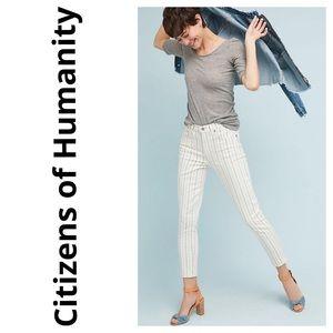CoH Rocket White Stripe High-Rise Skinny Jeans 32